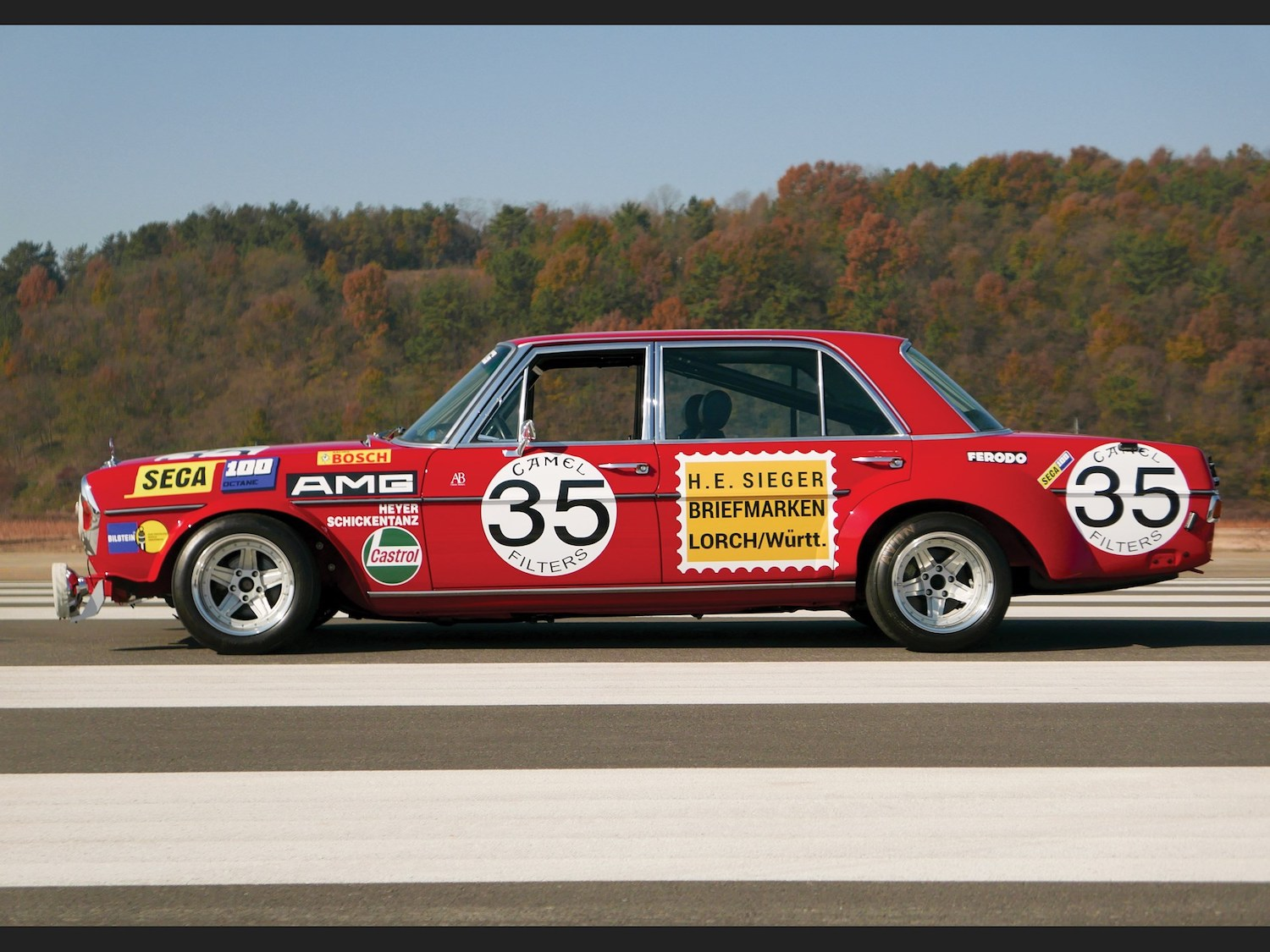 1969 Mercedes-Benz 300 SEL 6.3 'Red Pig' Replica side-view
