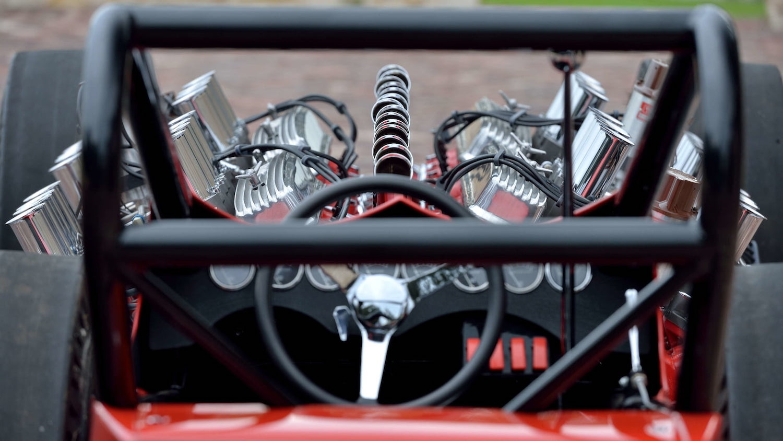 2007 Buick Nailhead Showboat Slingshot Dragster cockpit view