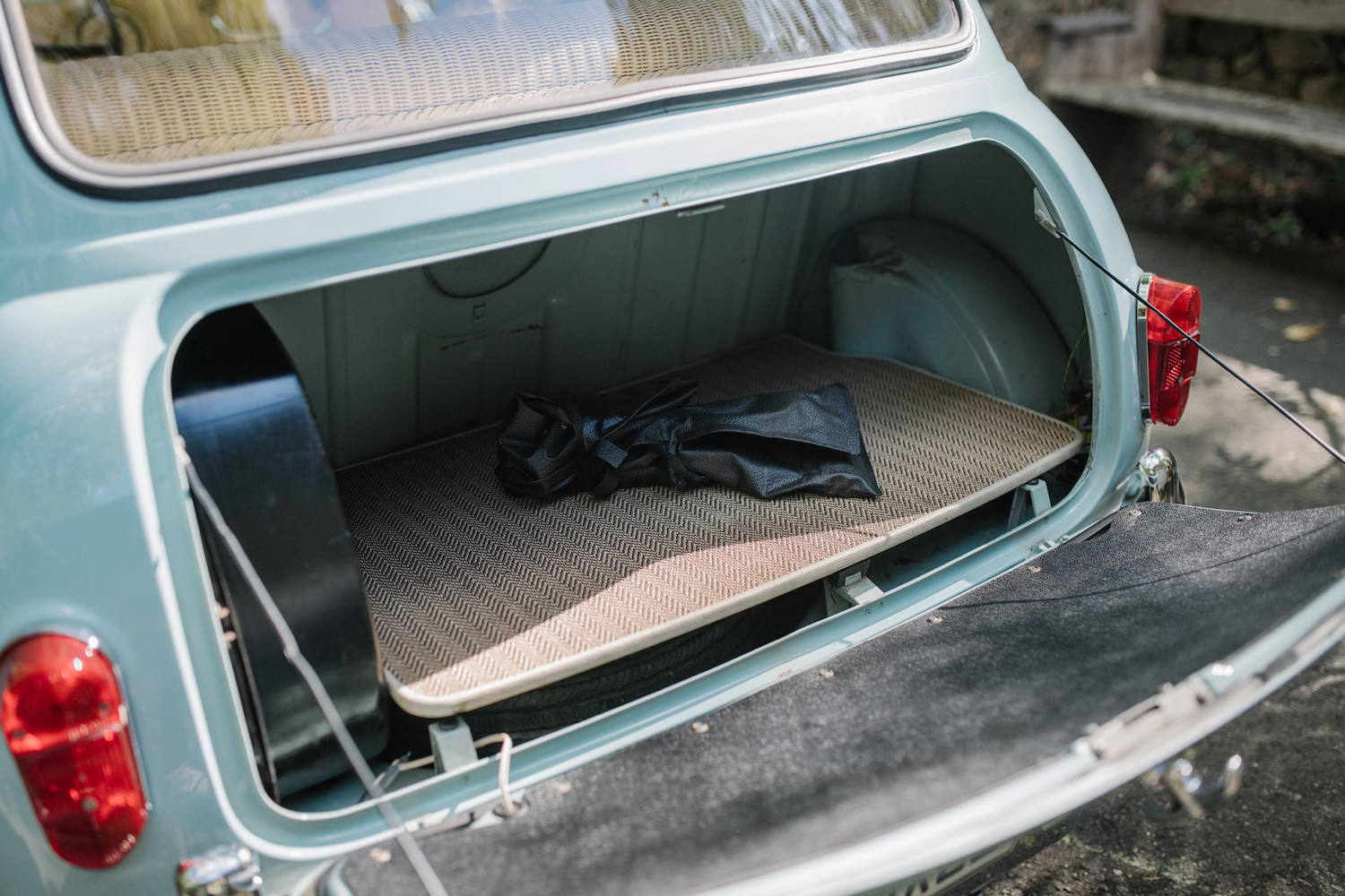 1962 Austin Mini Beach Car open trunk