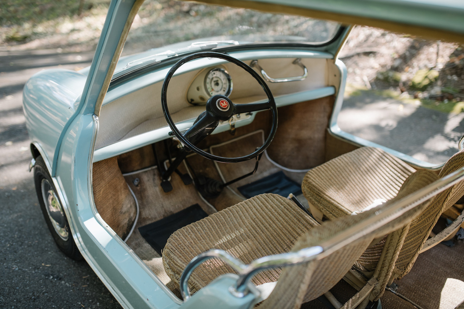 1962 Austin Mini Beach Car interior dash