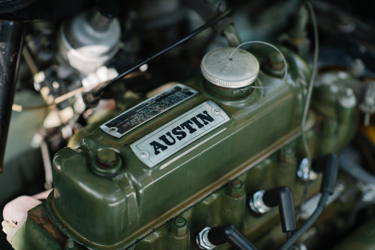 1962 Austin Mini Beach Car engine