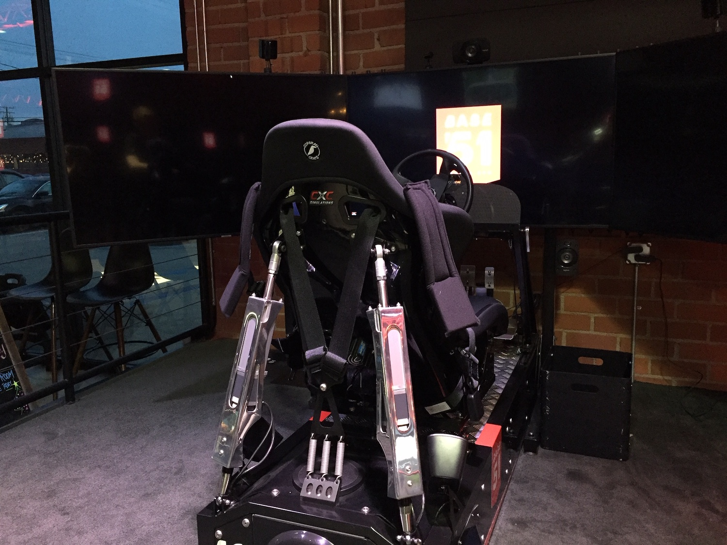 rear view racing simulator