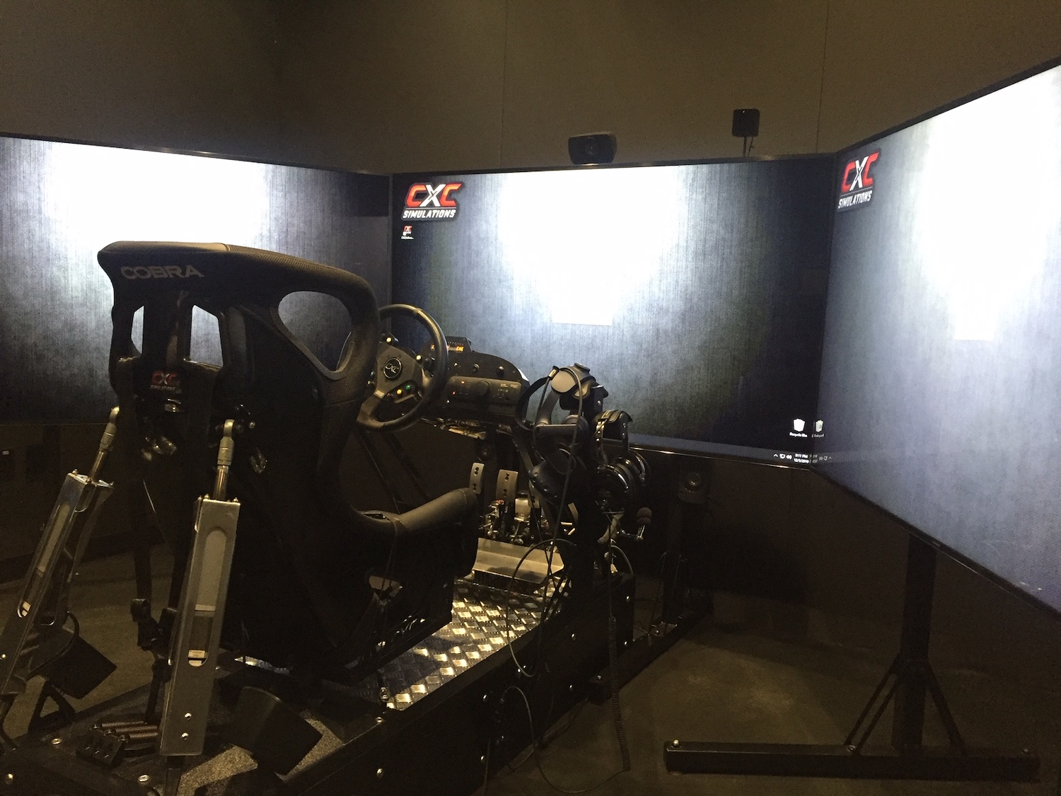 professional racing simulator screens