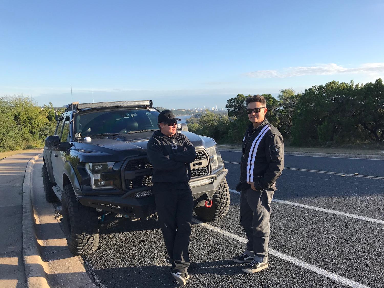 milburn and friend near ford raptor