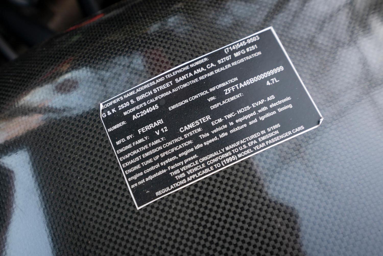 vin label closeup detail