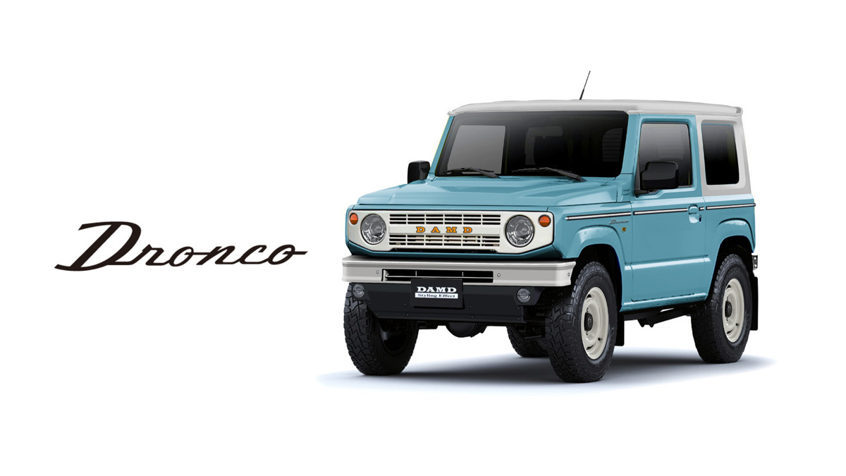 Japanese tuner turns Suzuki Jimny into a kei-sized classic Ford Bronco thumbnail