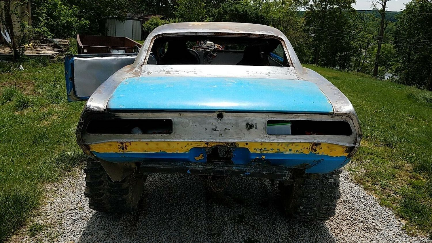 1969 camaro mudder project rear