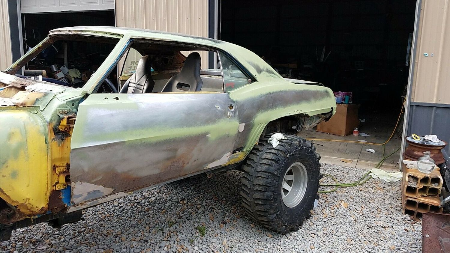1969 camaro mudder project rear quarter panel