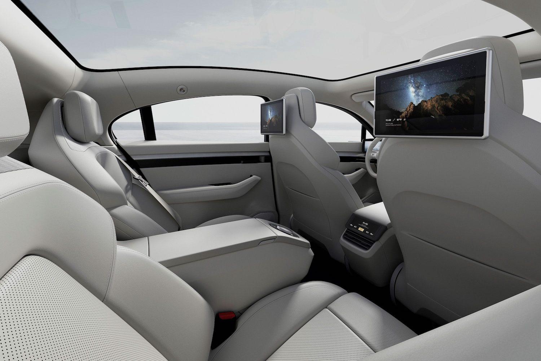 interior rear passenger infotainment screens