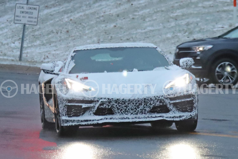 c8 corvette hybrid spy front