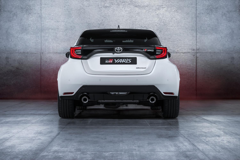 2020 yaris gr white rear