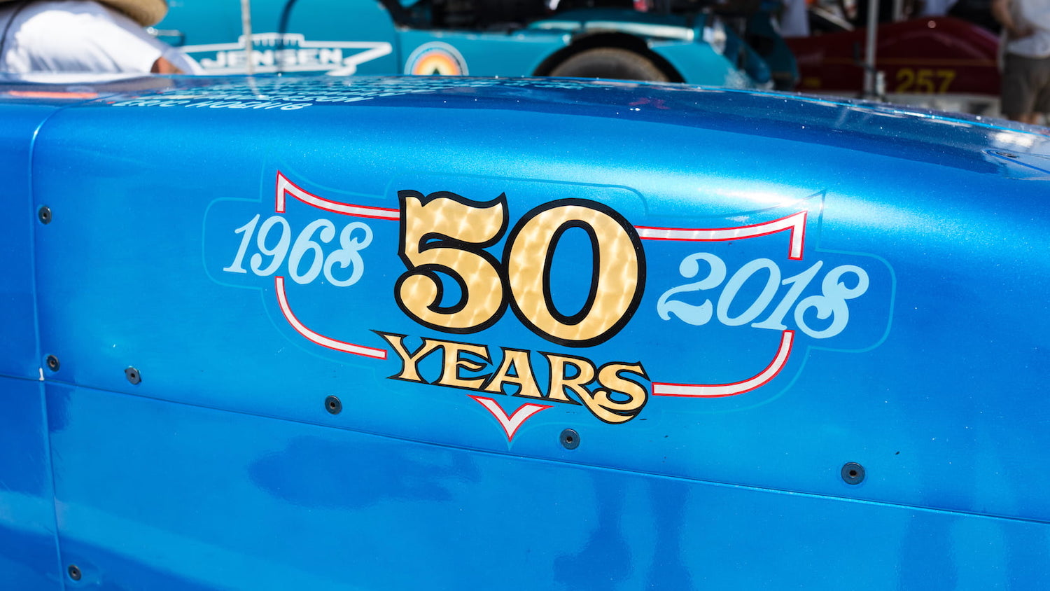 50 years decal close-up
