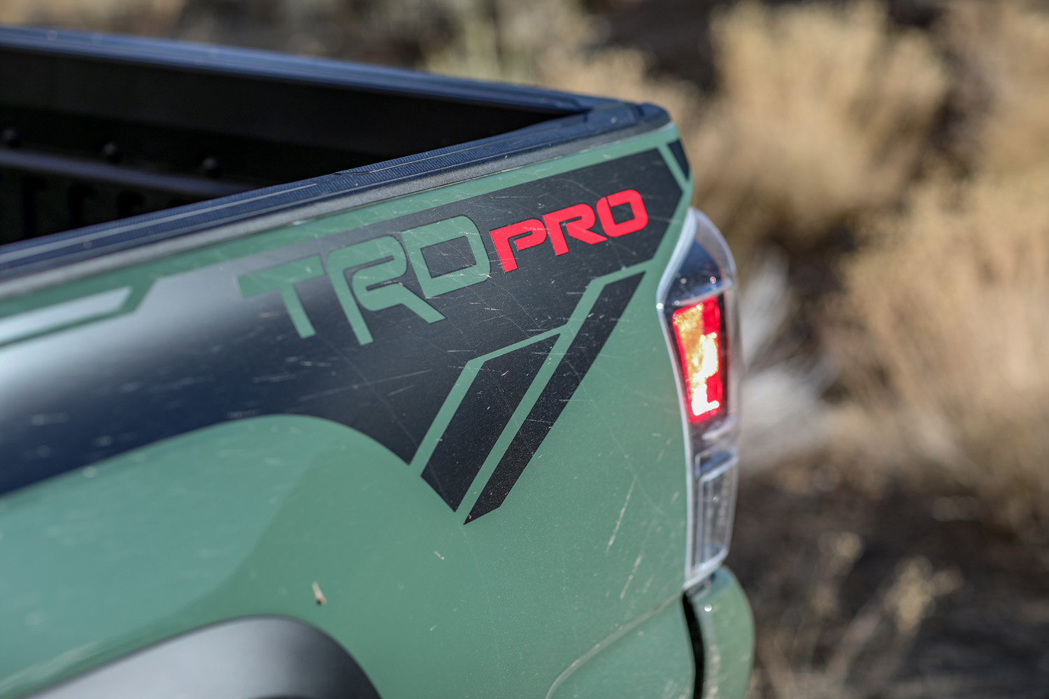 2020 Toyota Tacoma TRD bed side graphic