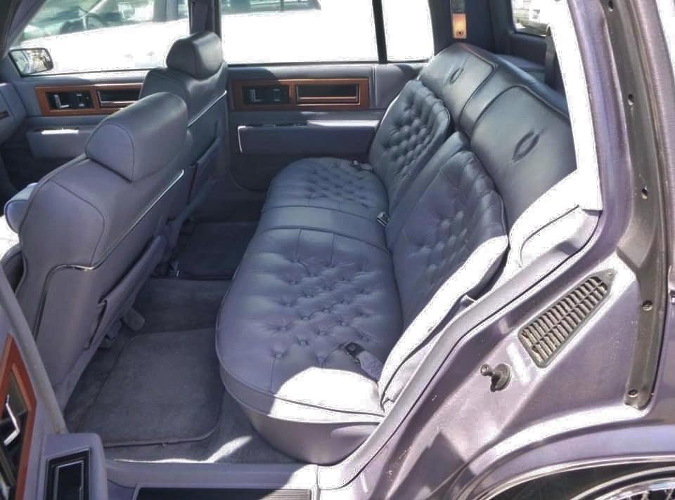80s cadillac interior rear seat