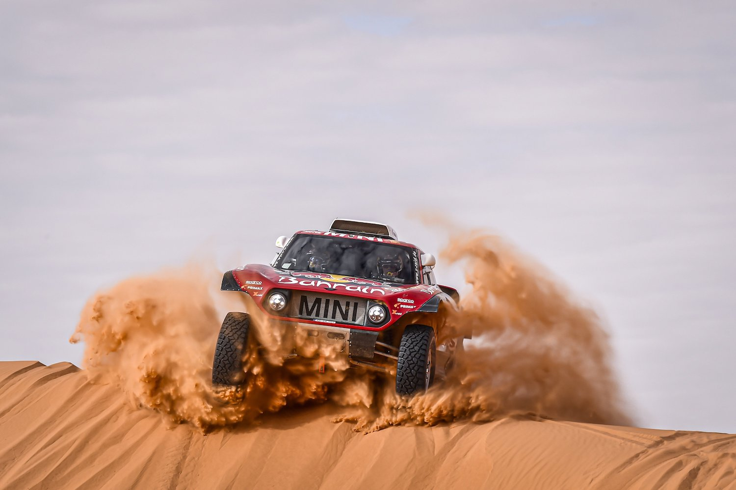 rally car on sand action