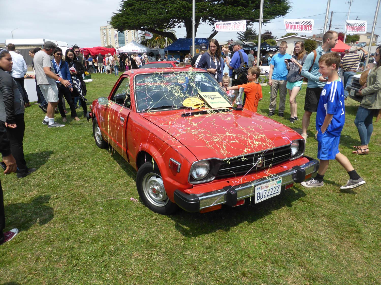 Concours d'Lemons California 2017 Worst of Show, Randy Carlson's double-headed 1979 Honda.