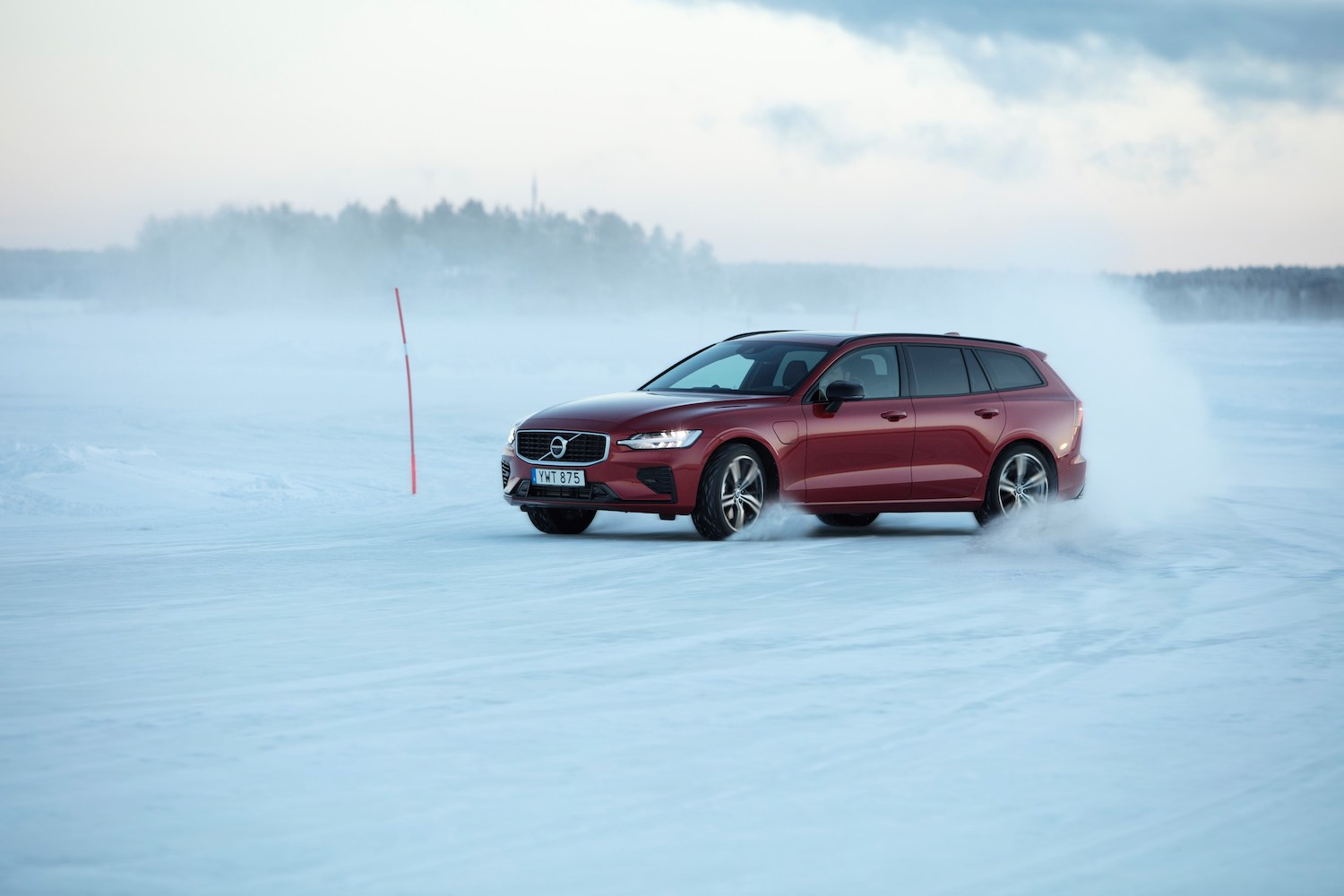 red wagon drift during safety sweden safety test