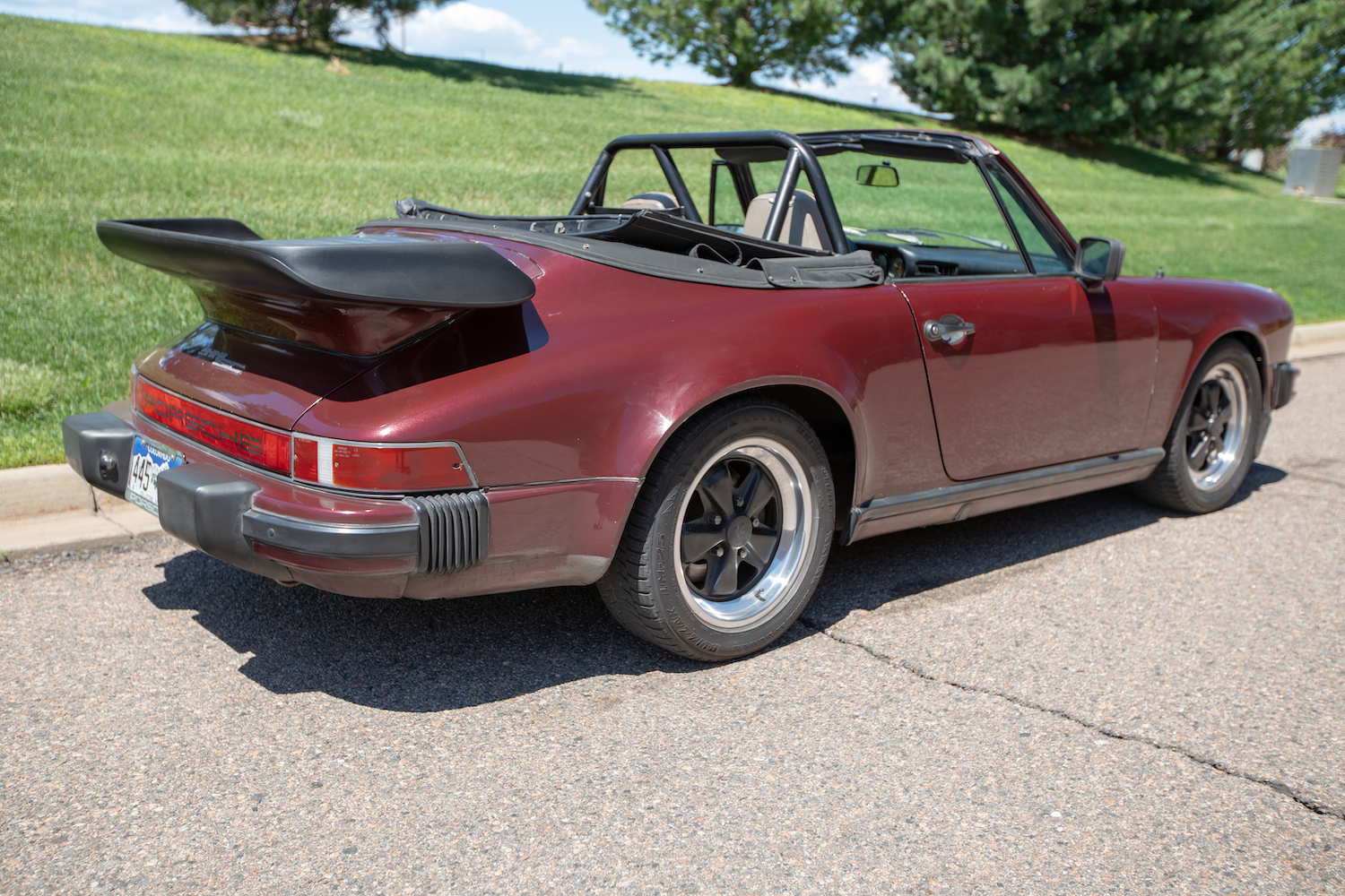 1983 Porsche 911SC Cabriolet rear three-quarter