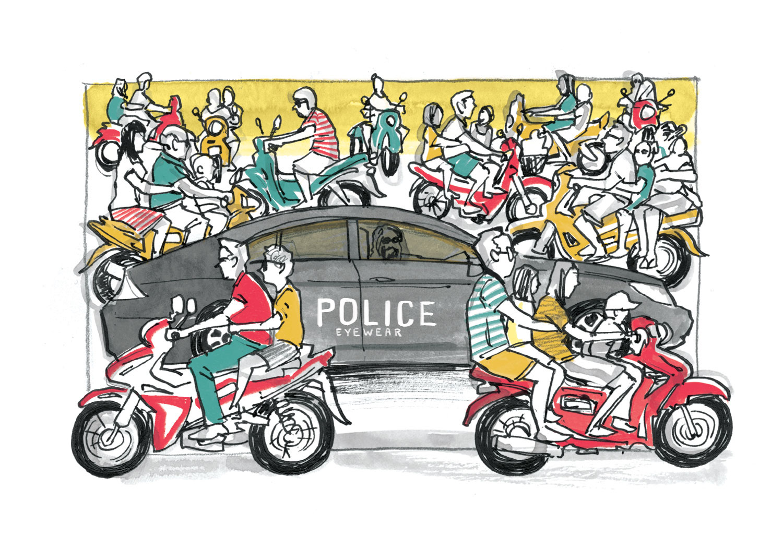 Malaysian police illustration