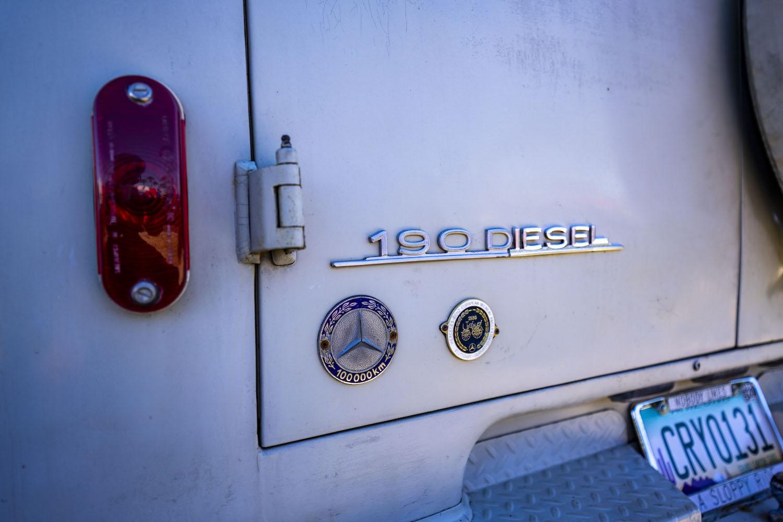 mercedes benz westfalia van 190 diesel badge
