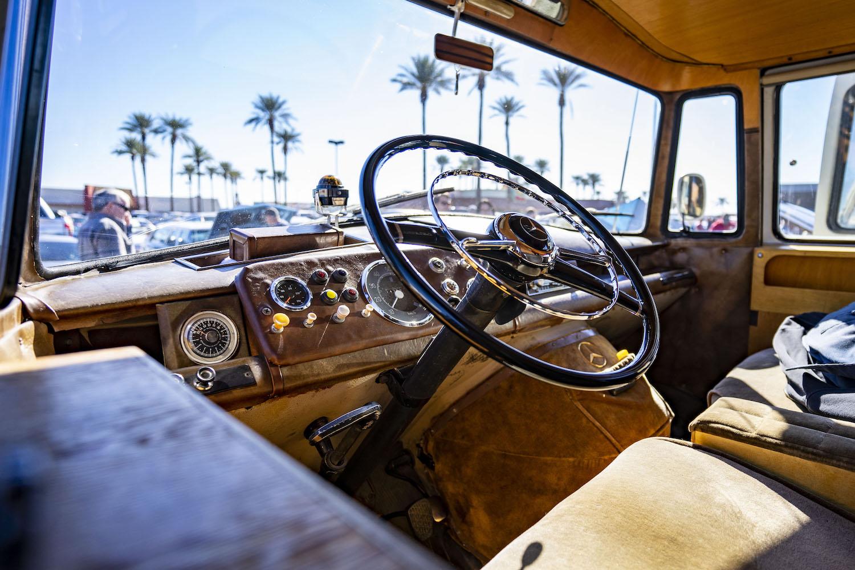 mercedes benz westfalia interior wheel and dash