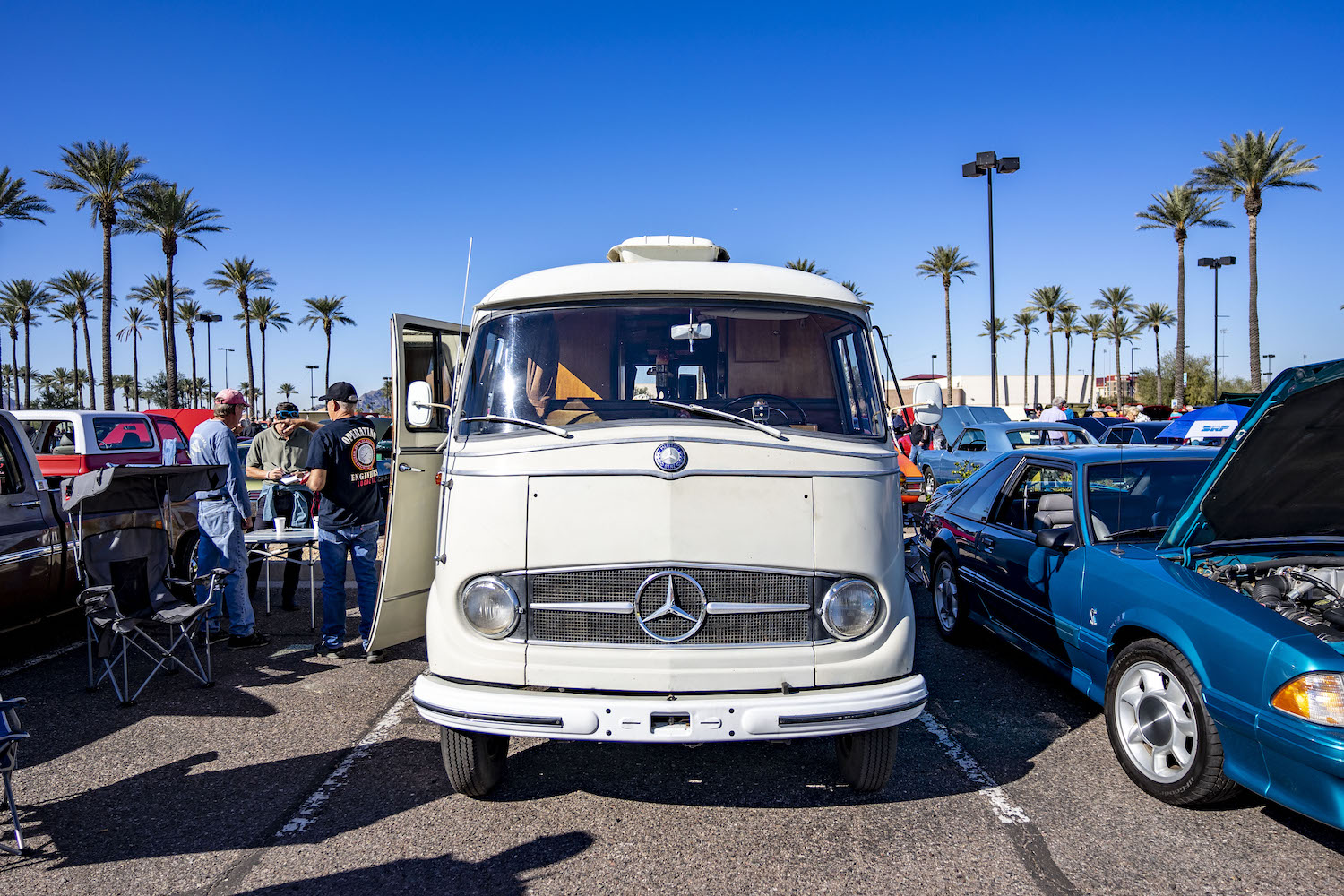This 1962 Mercedes-Benz L 319 Westfalia camper conversion is one of the most charming vehicles in Scottsdale