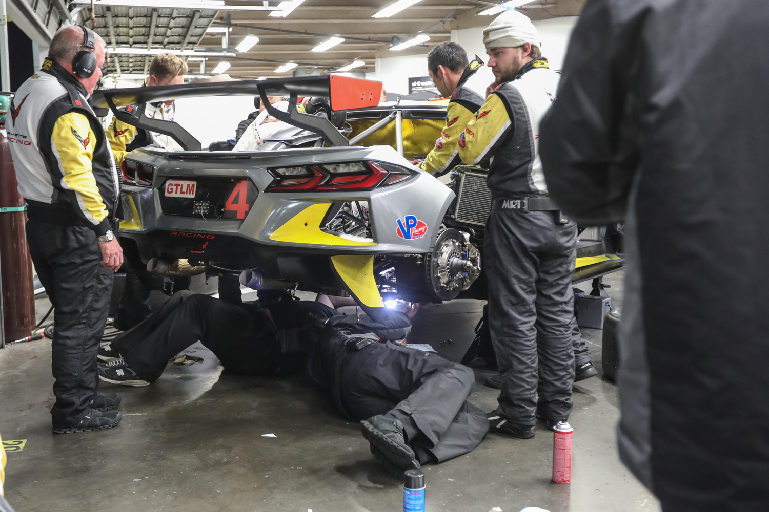 Corvette C8R garage Daytona 2020