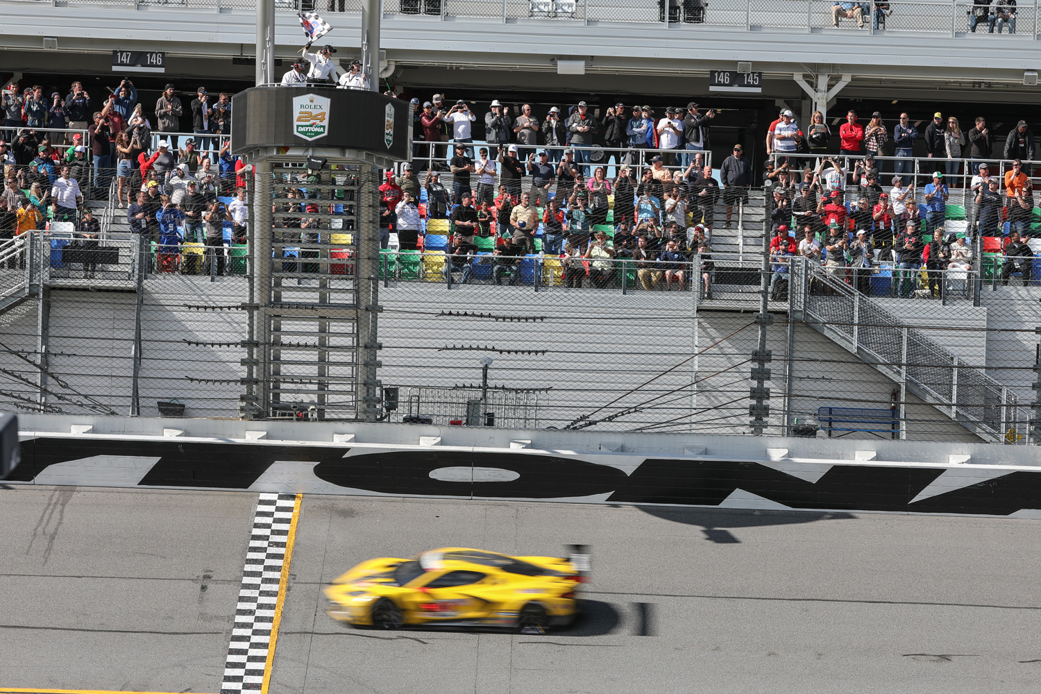 Corvette Checkered Flag