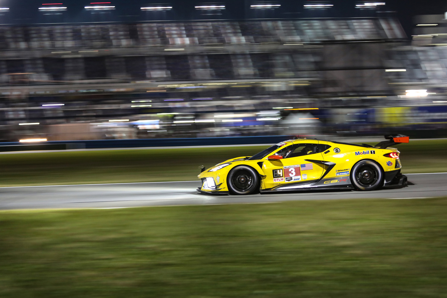 2020 Rolex 24 Daytona Corvette C8R Night