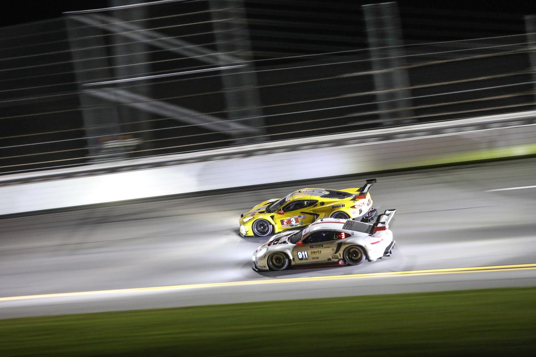 2020 Rolex 24 Daytona Corvette Porsche Night