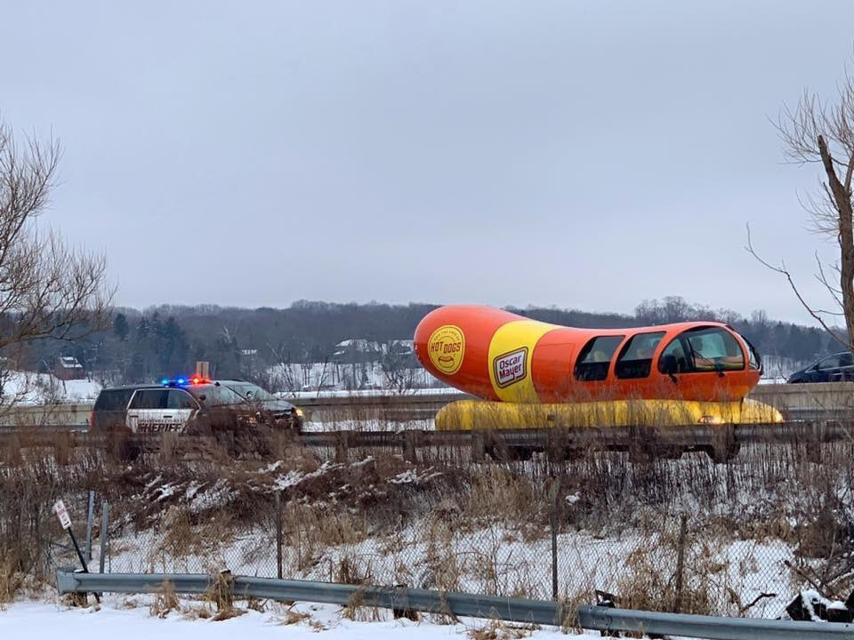 Wienermobile stopped by Wisconsin Police Department thumbnail