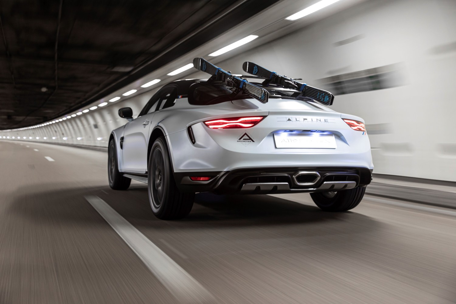 Alpine A110 SportsX rear three-quarter