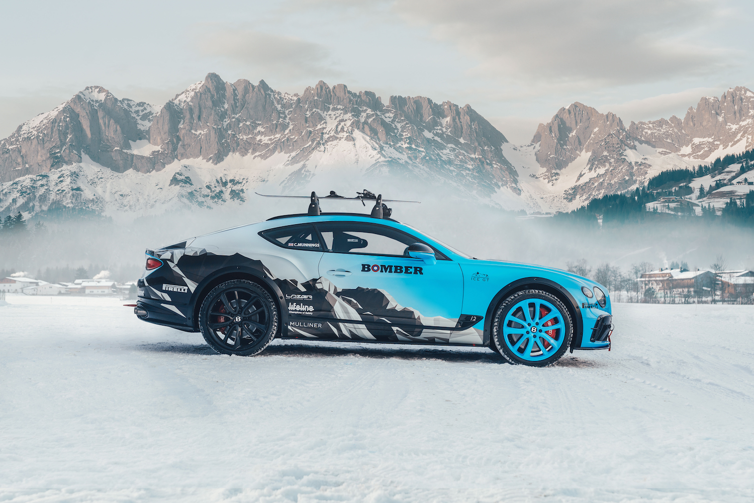 Bentley Continental GT Ice Race Car side-view