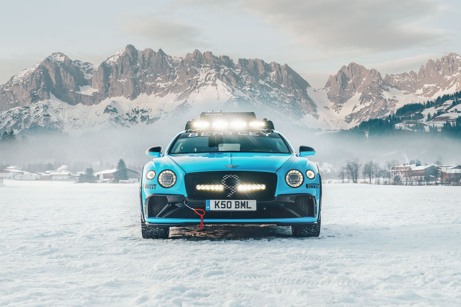 Bentley Continental GT Ice Race Car front