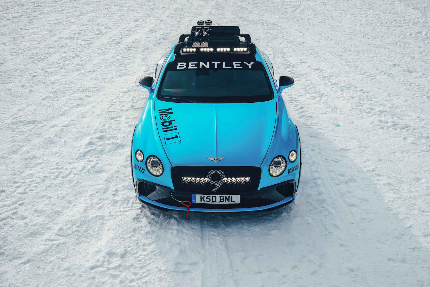 Bentley Continental GT Ice Race Car front elevated