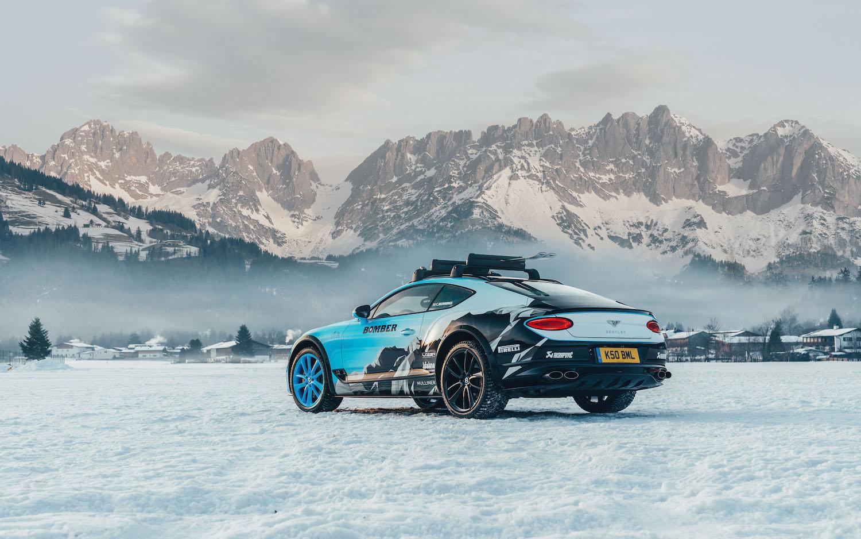 Bentley sends its twin-turbo W-12 ice racing thumbnail