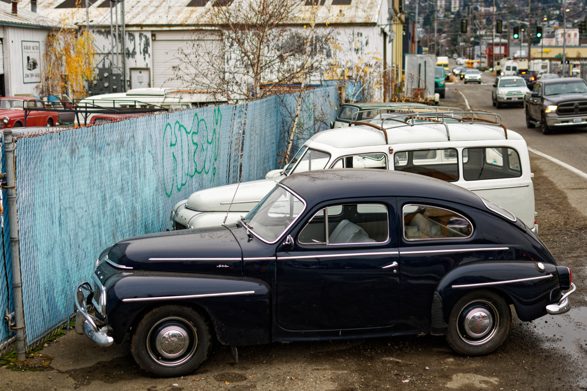 row of old volvo cars