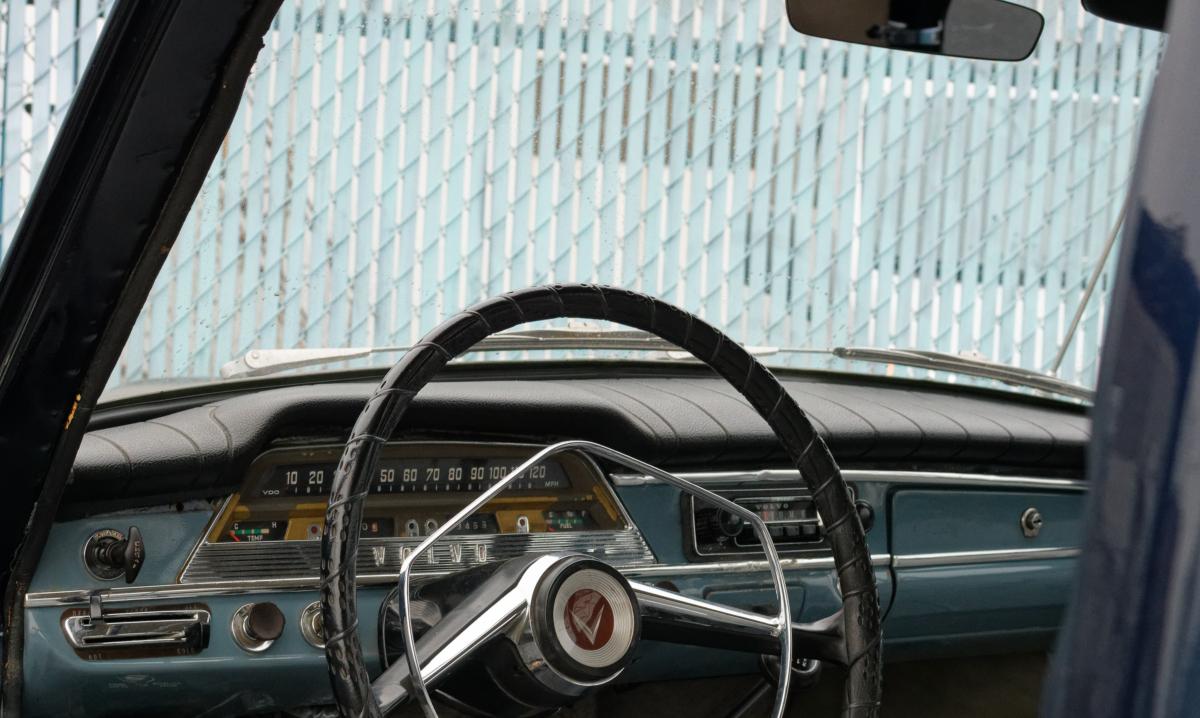 vintage volvo front dash