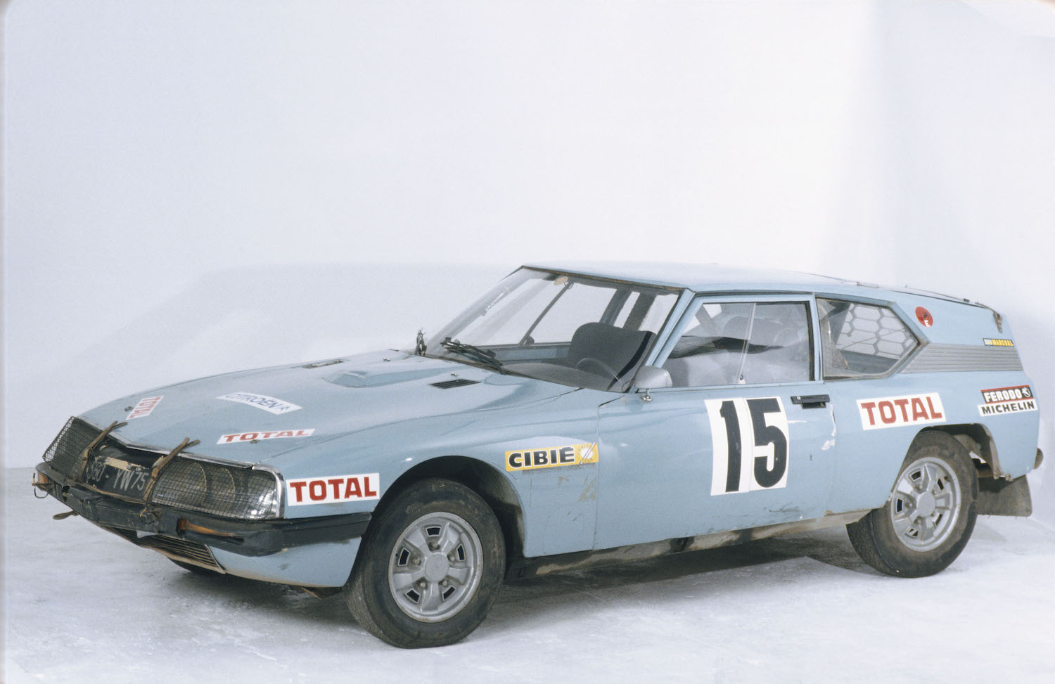 citroen old rally race car front three-quarter