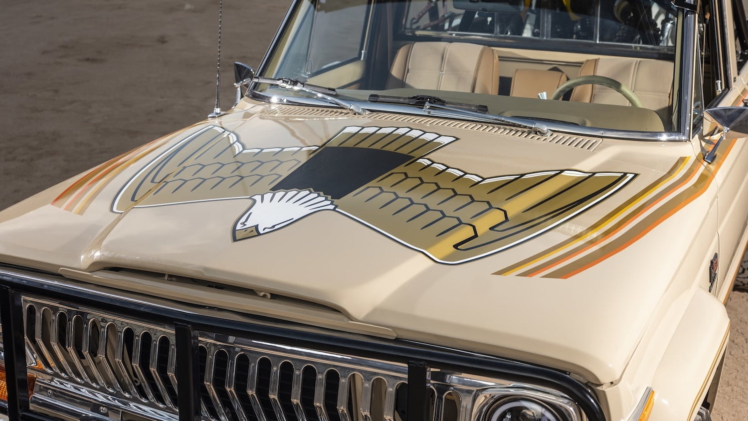 1978 Jeep J10 Truck front hood decal