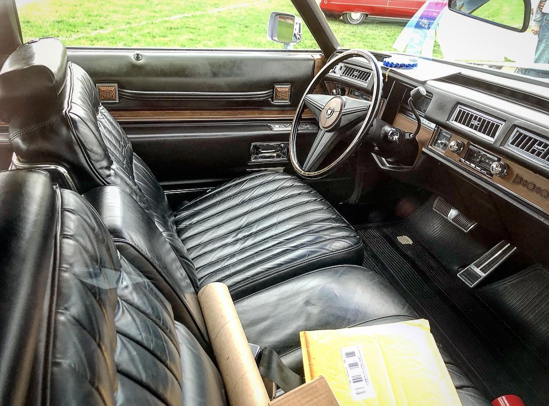 1974 Cadillac Eldorado front interior