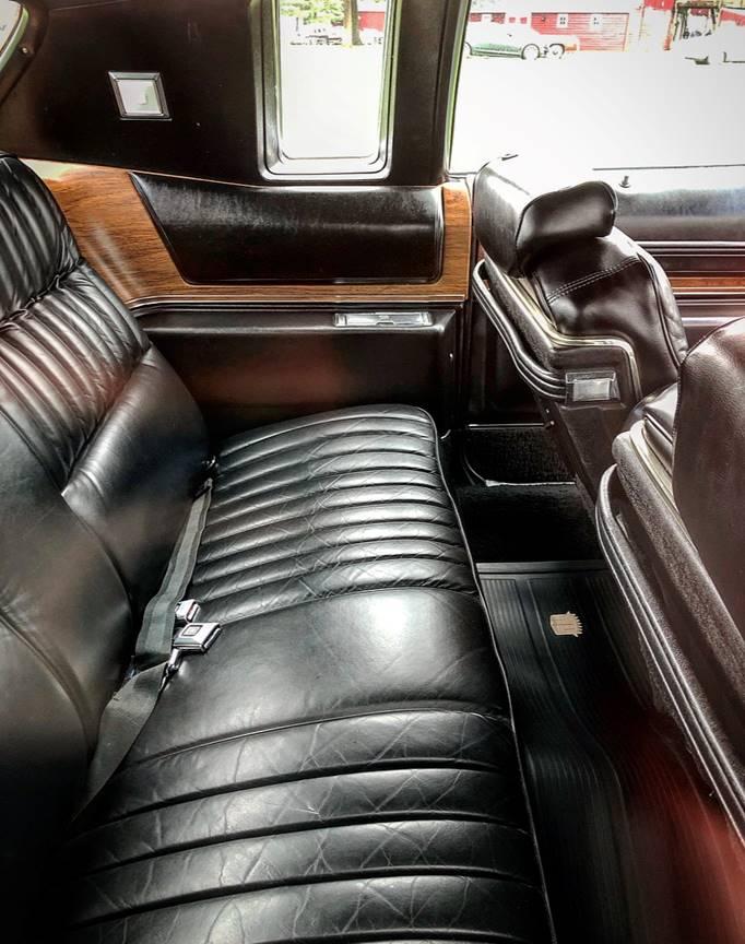 1974 Cadillac Eldorado rear seat
