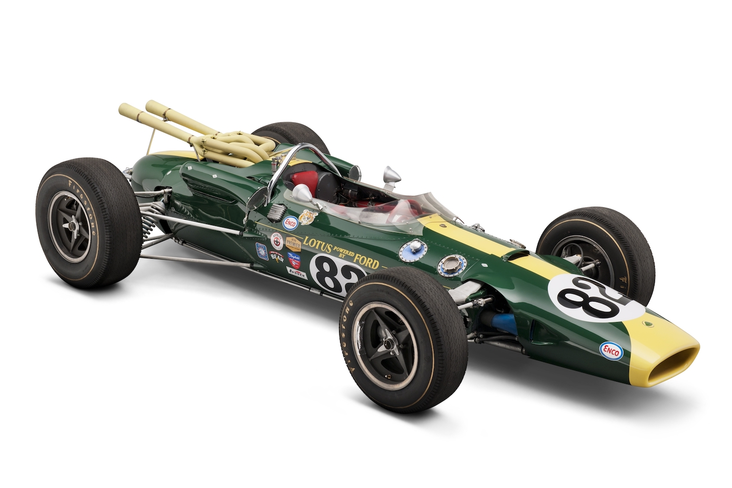 1965 Lotus Ford front three-quarter race car