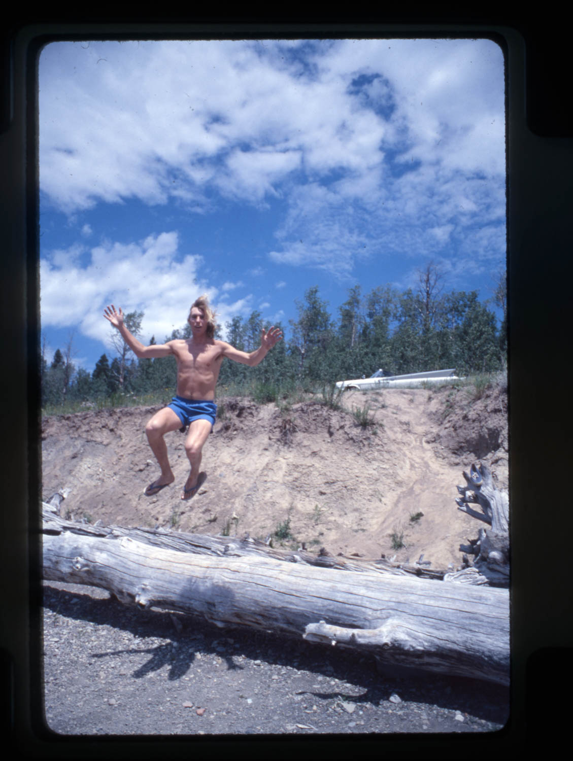 Youth is wasted on the young, except for Jim Graves who was thoroughly enjoying his youth at a stop in Wyoming in 1977.