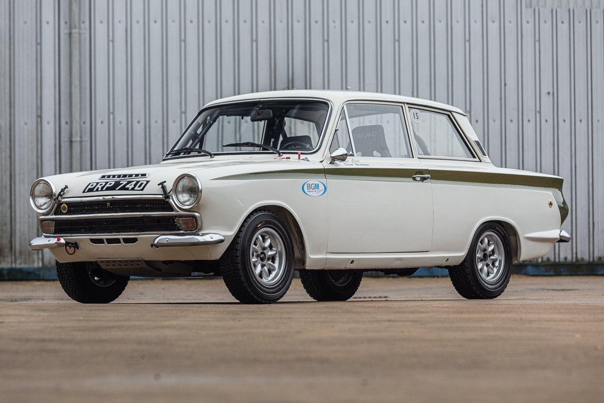 1966 Ford MK1 Lotus Cortina front three-quarter