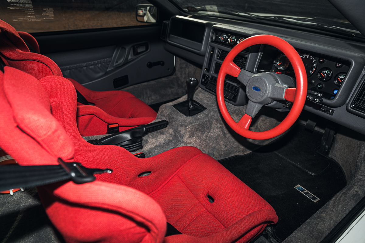 1986 Ford RS200 interior