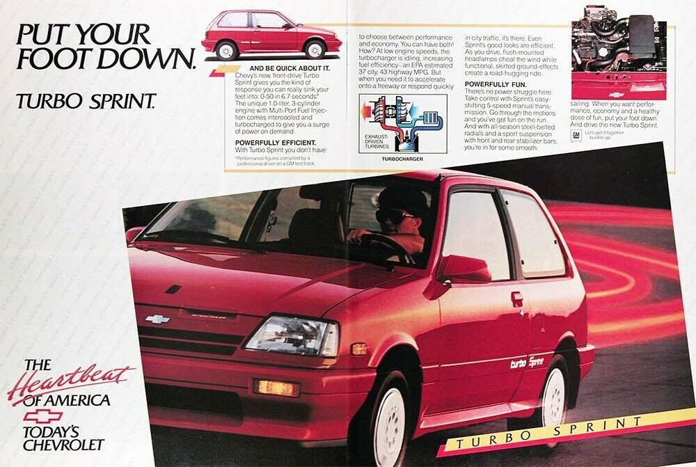 Chevrolet Sprint Turbo advertisement