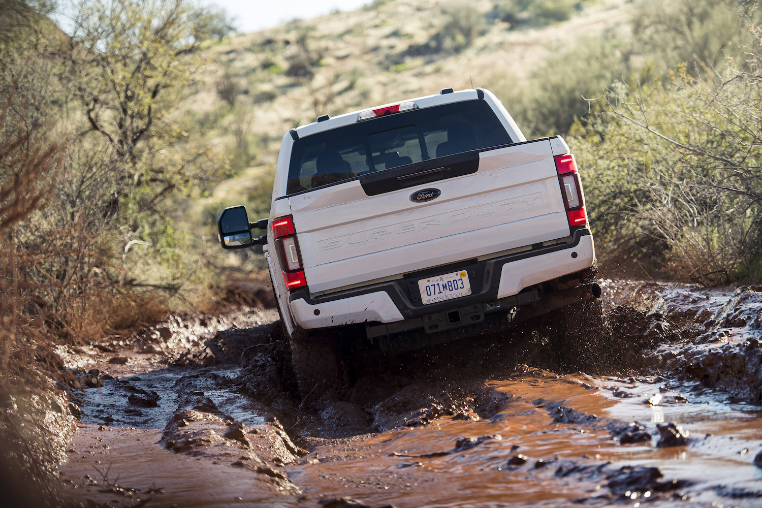 ford super duty rear mudding action