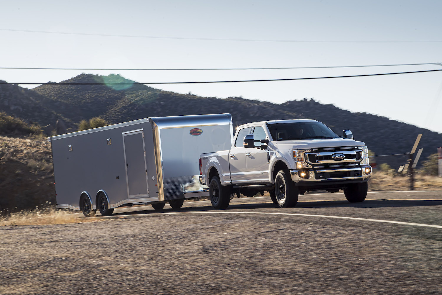 super duty towing trailer front three-quarter
