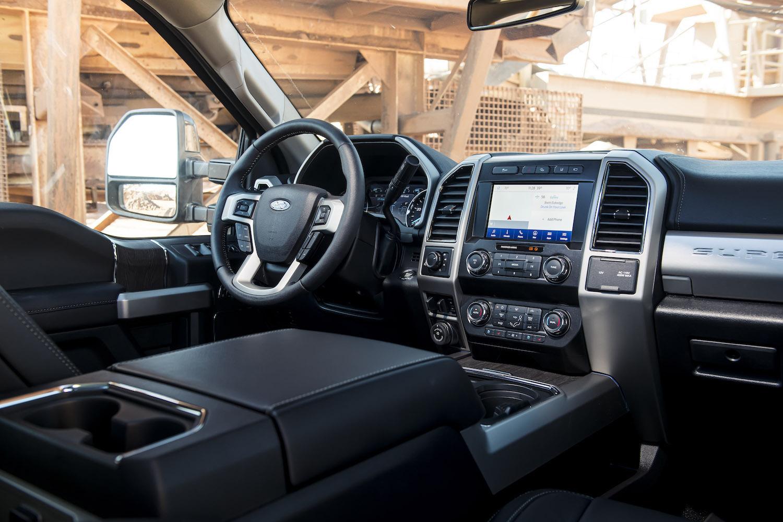 super duty truck interior